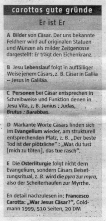 kasten carottas gute grnde - Julius Casar Lebenslauf